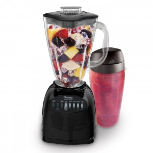 Oster 006706-BG3-000 Simple Blend 100 10 Speed Blender with Blend and Go Cup, Black